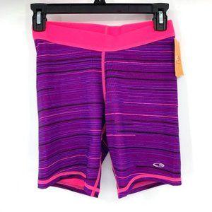C9 CHAMPION Bike Shorts Compression Purple NWT M